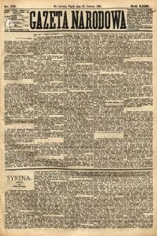 Gazeta Narodowa. 1884, nr141