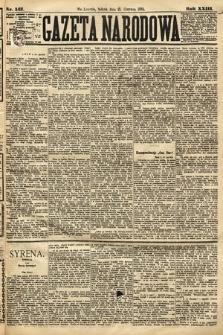 Gazeta Narodowa. 1884, nr142