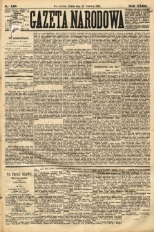 Gazeta Narodowa. 1884, nr148