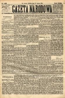 Gazeta Narodowa. 1884, nr149