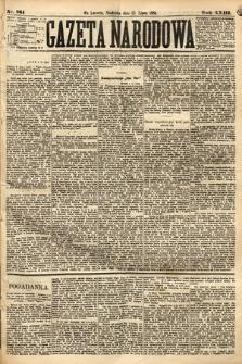 Gazeta Narodowa. 1884, nr161