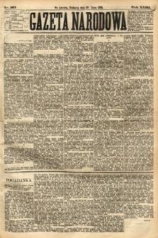 Gazeta Narodowa. 1884, nr167
