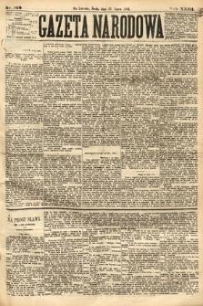 Gazeta Narodowa. 1884, nr169