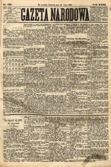 Gazeta Narodowa. 1884, nr170