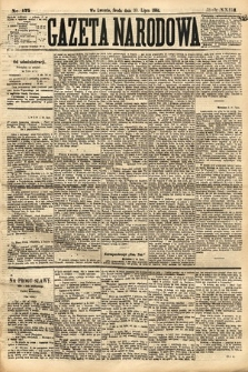 Gazeta Narodowa. 1884, nr175