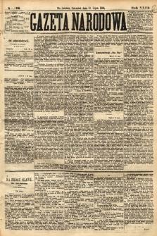 Gazeta Narodowa. 1884, nr176