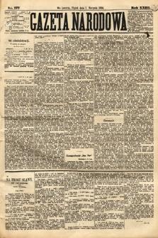 Gazeta Narodowa. 1884, nr177