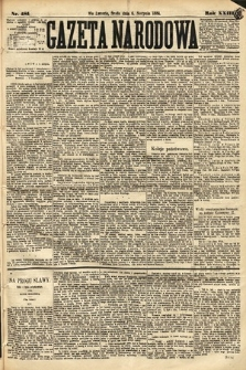 Gazeta Narodowa. 1884, nr181