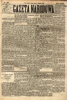 Gazeta Narodowa. 1884, nr183