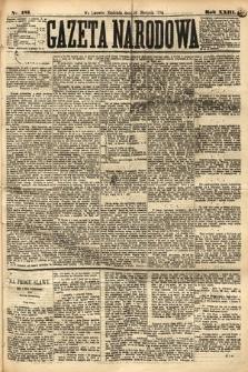 Gazeta Narodowa. 1884, nr185