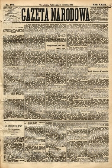 Gazeta Narodowa. 1884, nr189