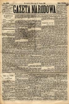 Gazeta Narodowa. 1884, nr201