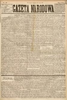 Gazeta Narodowa. 1877, nr47