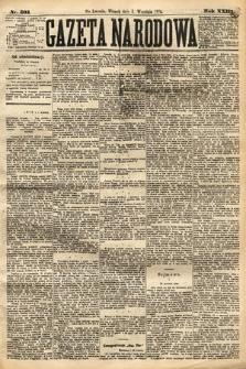 Gazeta Narodowa. 1884, nr203