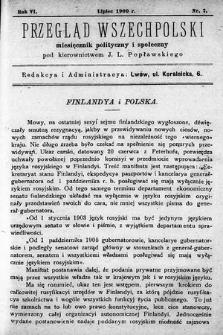 Przegląd Wszechpolski : miesięcznik polityczny ispołeczny. 1900, nr7