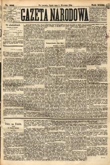 Gazeta Narodowa. 1884, nr206