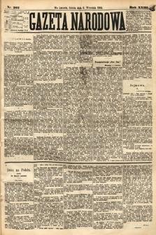 Gazeta Narodowa. 1884, nr207
