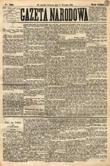 Gazeta Narodowa. 1884, nr210