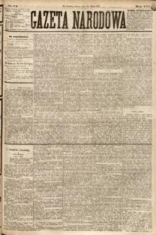 Gazeta Narodowa. 1877, nr74