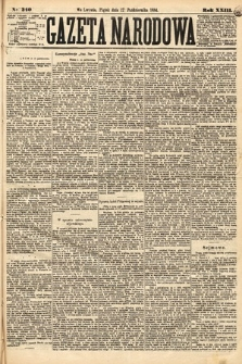 Gazeta Narodowa. 1884, nr240