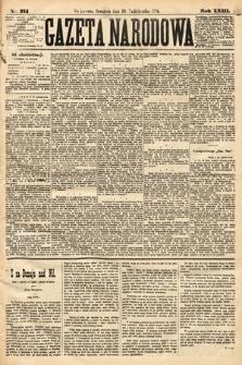 Gazeta Narodowa. 1884, nr251