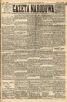 Gazeta Narodowa. 1884, nr272
