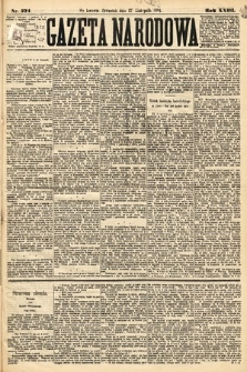 Gazeta Narodowa. 1884, nr274