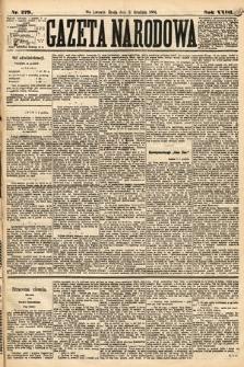 Gazeta Narodowa. 1884, nr279