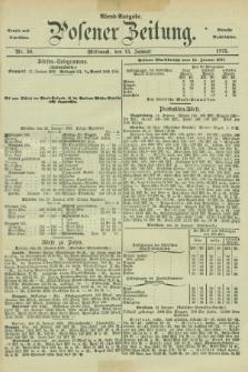Posener Zeitung. Jg.78 [i.e.82], Nr. 30 (13 Januar 1875) - Abend=Ausgabe.