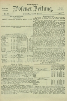 Posener Zeitung. Jg.78 [i.e.82], Nr. 33 (14 Januar 1875) - Abend=Ausgabe.