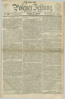 Posener Zeitung. Jg.78 [i.e.82], Nr. 790 (11 November 1875) - Morgen=Ausgabe. + dod.