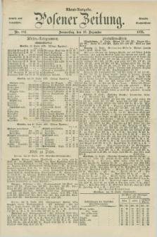 Posener Zeitung. Jg.78 [i.e.82], Nr. 882 (16 Dezember 1875) - Abend=Ausgabe.