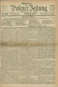 Posener Zeitung. Jg.78 [i.e.82], Nr. 898 (23 Dezember 1875) - Morgen=Ausgabe. + dod.