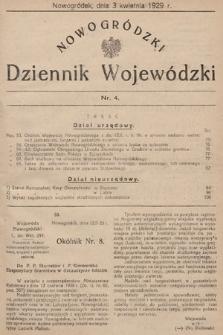 Nowogródzki Dziennik Wojewódzki. 1929, nr4