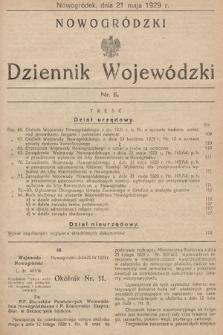 Nowogródzki Dziennik Wojewódzki. 1929, nr5