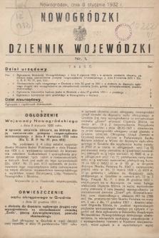 Nowogródzki Dziennik Wojewódzki. 1932, nr1