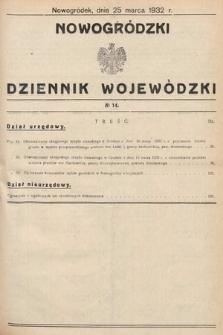 Nowogródzki Dziennik Wojewódzki. 1932, nr14