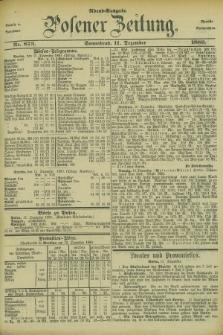 Posener Zeitung. Jg.83 [i.e.87], Nr. 873 (11 Dezember 1880) - Abend=Ausgabe.