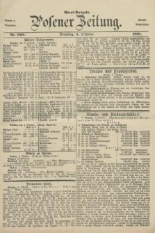 Posener Zeitung. Jg.88, Nr. 696 (4 Oktober 1881) - Abend=Ausgabe.
