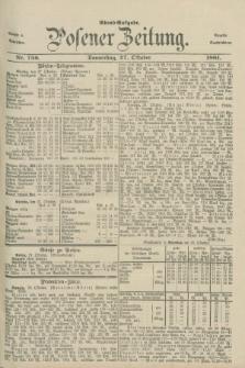 Posener Zeitung. Jg.88, Nr. 756 (27 Oktober 1881) - Abend=Ausgabe.