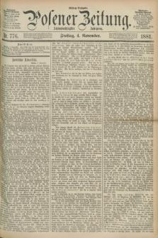 Posener Zeitung. Jg.88, Nr. 776 (4 November 1881) - Mittag=Ausgabe.
