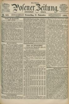 Posener Zeitung. Jg.88, Nr. 810 (17 November 1881) - Abend Ausgabe.