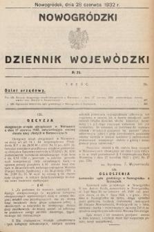 Nowogródzki Dziennik Wojewódzki. 1932, nr29