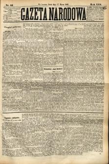 Gazeta Narodowa. 1886, nr62
