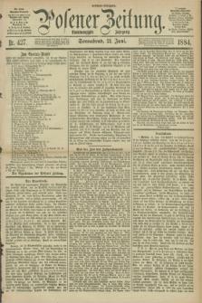 Posener Zeitung. Jg.91, Nr. 427 (21 Juni 1884) - Morgen=Ausgabe.