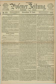 Posener Zeitung. Jg.91, Nr. 428 (21 Juni 1884) - Mittag=Ausgabe.