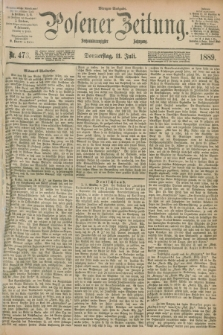 Posener Zeitung. Jg.96, Nr. 473 (11 Juli 1889) - Morgen=Ausgabe. + dod.