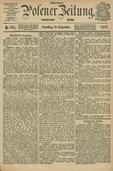 Posener Zeitung. Jg.96, Nr. 864 (10 Dezember 1889) - Mittag=Ausgabe.