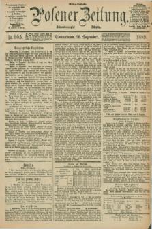 Posener Zeitung. Jg.96, Nr. 905 (28 Dezember 1889) - Mittag=Ausgabe.