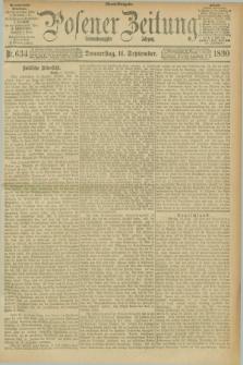 Posener Zeitung. Jg.97, Nr. 634 (11 September 1890) - Abend=Ausgabe.